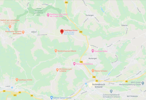 Anfahrt Gasthof Krone Adelstetten